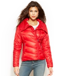 Madden Girl Madden Girl Point Collar Packable Puffer Coat