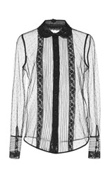 Red Valentino Macrame Ribbon Embroidered Shirt Black