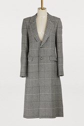 Each X Other Houndstooth Coat Black And White