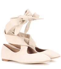 The Row Elodie Suede Ballerinas Beige