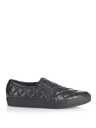 Balmain Quilted Leather Skate Shoes
