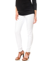 A Pea In The Pod Maternity Skinny Jeans White Wash