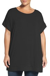 Sejour Plus Size Women's Chiffon Trim Tunic