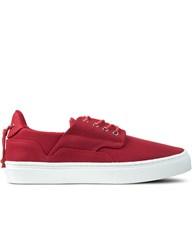 Clear Weather Red Waxed Canvas The Eighty Low Top Sneakers