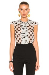 Dolce And Gabbana Polka Dot Blouse In Black Geometric Print White Black Geometric Print White