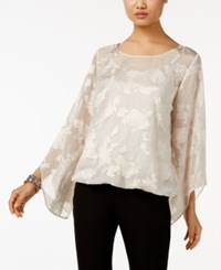 Alfani Metallic Jacquard Blouson Top Only At Macy's New Champagne