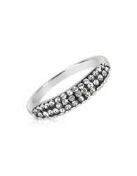 Gis Le St.Moritz Fantasmania Crystal Black Band Ring