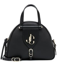 Jimmy Choo Varenne Leather Bowling Bag Black