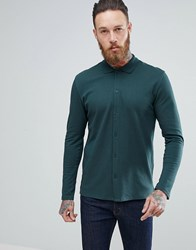 Selected Homme Slim Fit Jersey Polo Shirt In Green Green Gables
