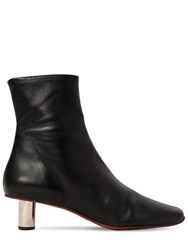 Proenza Schouler 40Mm Stretch Leather Ankle Boots Black