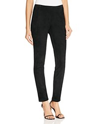 Lafayette 148 New York Suede Front Leggings Black