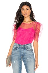 Amanda Uprichard X Revolve Smith Top Set Fuchsia