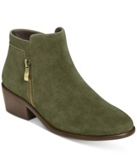 Aerosoles Mythology Booties Women's Shoes Dark Green Suede