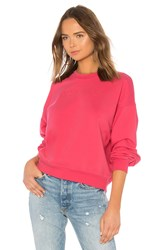 7 For All Mankind We Are Outline Embroidery Sweatshirt Pink