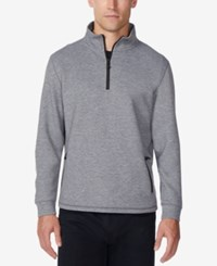 32 Degrees Men's Fleece Quarter Zip Tech Jacket Heather Storm