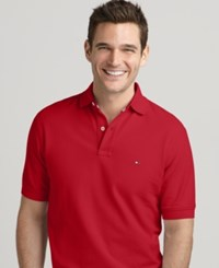 Tommy Hilfiger Big And Tall Solid Ivy Polo Regal Red