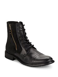 Kenneth Cole Side Zippered Boots Black