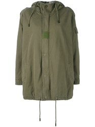 Saint Laurent 458884Y052p Army Green Synthetic Polyester Women Cotton Rabbit Fur Polyester 40