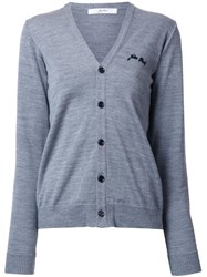 Julien David V Neck Cardigan Grey