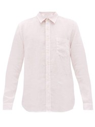 120 Lino Long Sleeved Linen Shirt Pink