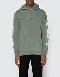 Obey New Times Propaganda Hooded Fleece In Light Army