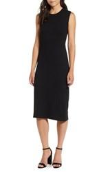 Bobeau Twist Back Midi Dress Black