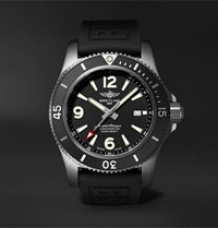 Breitling Superocean Automatic Chronometer 46Mm Dlc Coated Stainless Steel And Rubber Watch Ref. No. M17368b71b1s2 Black