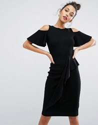 Coast Cold Shoulder Lendra Knit Dress Black