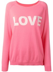 Chinti And Parker Cashmere Love Jumper Pink Purple