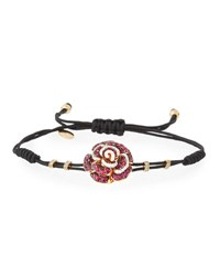 Pippo Perez Pull Cord Bracelet With Ruby Rose And Diamonds
