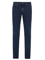 Acne Studios Ace Abyss Cotton Blend Slim Leg Jeans Navy