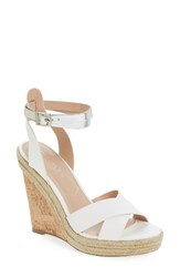 Charles By Charles David Women's Brit Wedge Platform Sandal White Silver