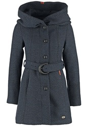 Khujo Marion Short Coat Black Blue