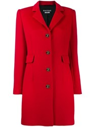 Boutique Moschino Single Breasted Coat Red