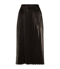 Diane Von Furstenberg Heavyn Lurex Pleated Midi Skirt Female Black