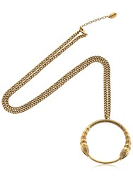 Roberto Cavalli Snake Pendant Necklace Gold