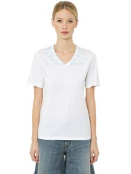 Maison Martin Margiela Aids Charity Cotton Jersey T Shirt White