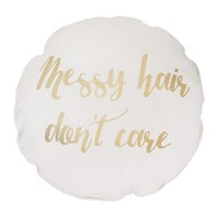 Bloomingville 'Messy Hair Don't Care' Cushion