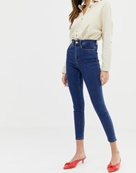 Vila High Waist Skinny Jean Medium Blue