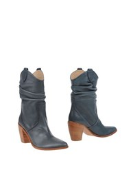 Peter Flowers Footwear Ankle Boots Women Slate Blue