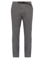 Gramicci Belted Waist Cotton Blend Twill Trousers Grey