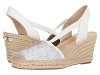 Anne Klein Abbey White Multi Synthetic Wedge Shoes Silver