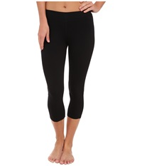 Three Dots Cotton Stretch Cropped Legging Black Women's Clothing