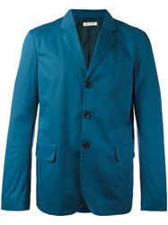 Marni Casual Three Button Blazer Blue