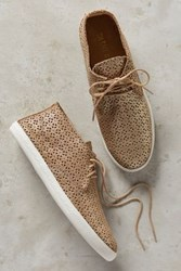Anthropologie Silent D Plan X High Top Sneakers Gold