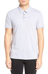 Velvet By Graham And Spencer Men's Bryant Jersey Polo Heather Grey