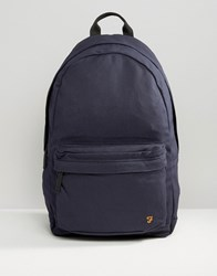 Farah Canvas Backpack Navy Navy