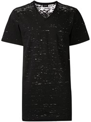 Diesel V Neck T Shirt Black
