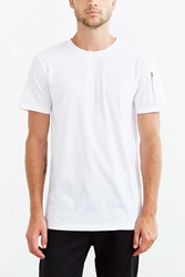 The Narrows Sleeve Pocket Crew Neck Tee White