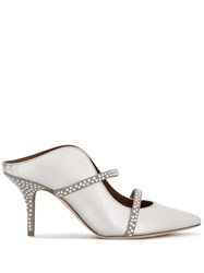 Malone Souliers Maureen Crystal Embellished Sandals Silver
